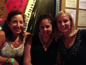 With my friends Gail and Abby at the Pat Benatar and Neil Giraldo concert at The House of Blues in Boston.