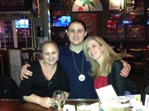 With Nick and Tara, ringing in 2013.